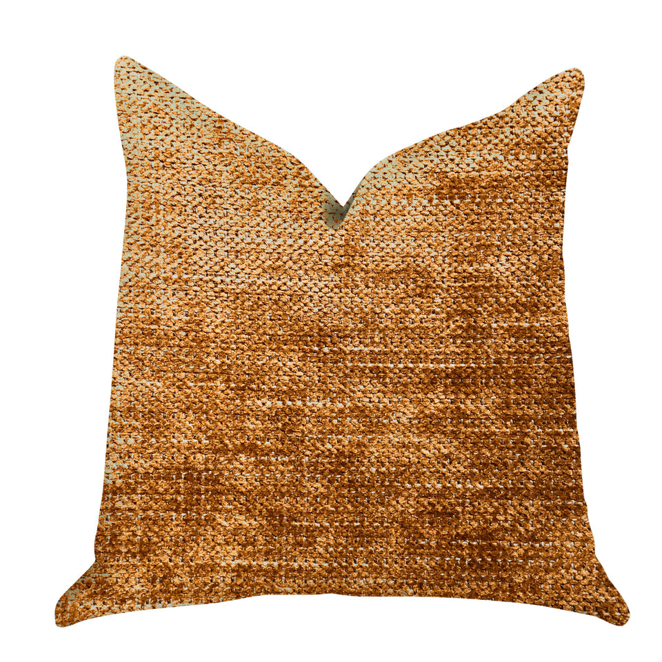 "Plutus Brands Aureila Double Sided Standard Luxury Throw Pillow, 20"" x 26"", Brown"