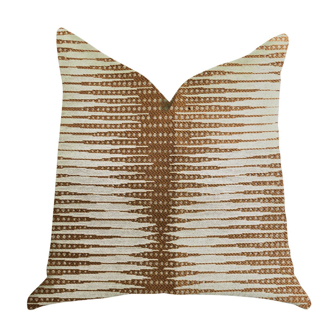 Plutus Brands Pokaline Chevron Double Sided Queen Luxury Throw Pillow, 20