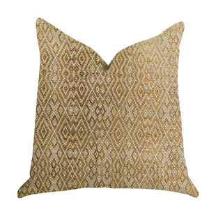 "Plutus Brands Diamond Gem Double Sided Standard Luxury Throw Pillow, 20"" x 26"", Brown"