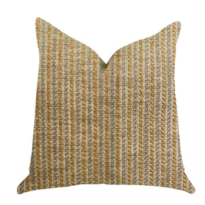 "Plutus Brands Woven Beliza Double Sided Queen Luxury Throw Pillow, 20"" x 30"", Brown/Beige/Grey"