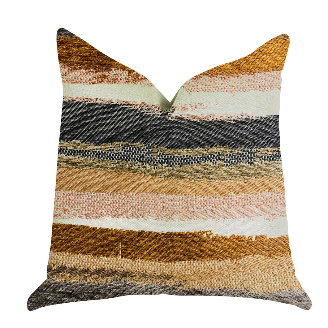 Plutus Brands Bahia Belle Striped Double Sided Queen Luxury Throw Pillow, 20