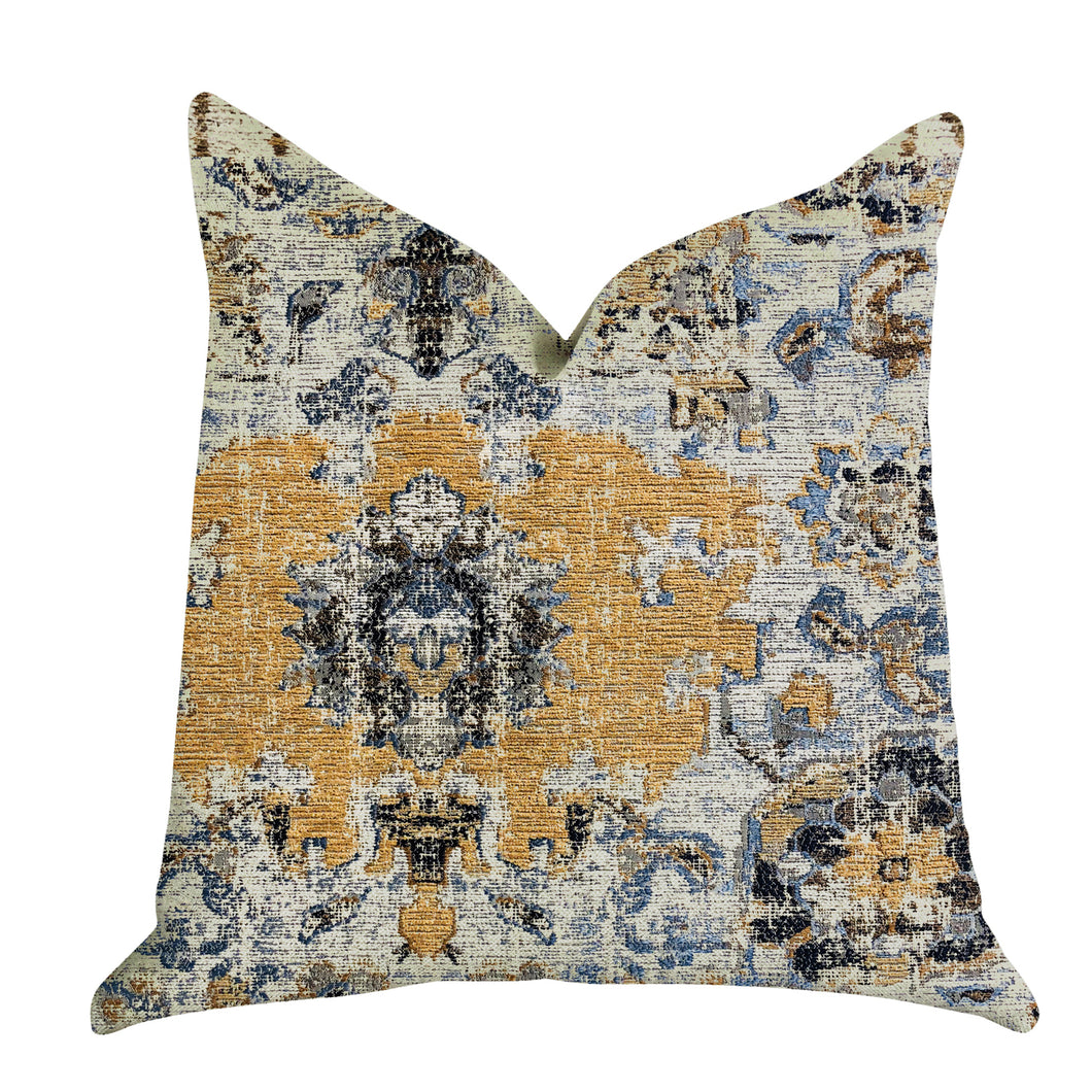 Plutus Brands Free Spirit Damasque Double Sided Standard Luxury Throw Pillow, 20