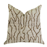 "Plutus Brands Buttercup Harlow Double Sided Queen Luxury Throw Pillow, 20"" x 30"", Brown/Beige"