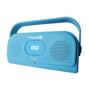 Pyle Surf Sound Party Waterproof Wireless Bluetooth Stereo Speaker with Microphone For Cell Phone Talking (Color Blue)