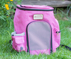 Armarkat Model PC301P Pets Backpack Pet Carrier in Pink and Gray Combo