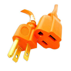 Professional Cable 16 AWG Power Cord Extension Orange 25 Feet