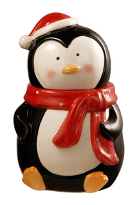 "National Tree 10"" Penguin Cookie Jar, Black"