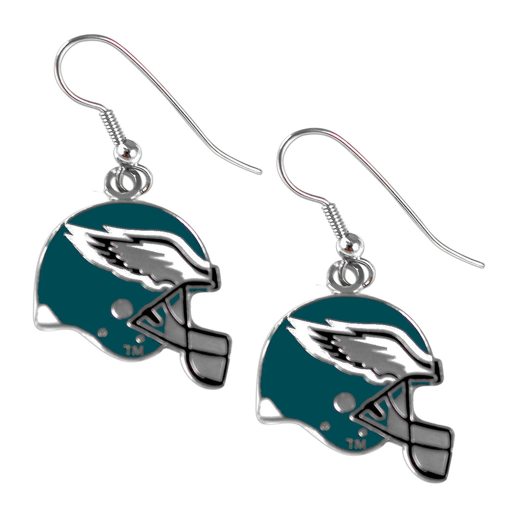 Sports Team Philadelphia Eagles J Hook Dangle Logo Earring Set
