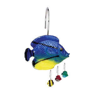 "Carnation Home Fashions ""Sea Life"" Resin Shower Curtain Hooks"