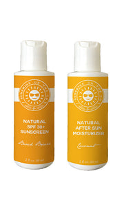 Sunshine On The Go Pocket Full of Sunshine ReadyPack Travel-Sized Natural Sun Care Set with Natural Broad Spectrum SPF 30+ Sunscreen and after Sun Moisturizing Body Lotion