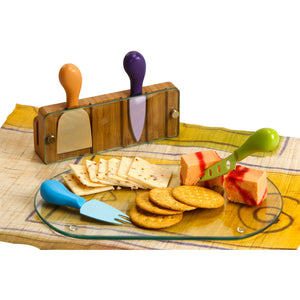 Picnic Plus Monaco Cheese Board Bamboo/Glass
