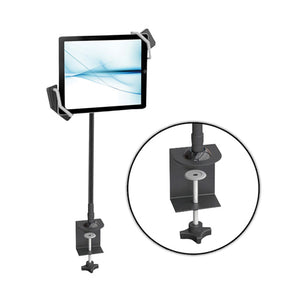 Gooseneck Seat Desk Bolt Clamp Mount Bracket Tablet Holder For All iPads, Kindle, Androids, eReaders, Nexus,Sansumg Galaxy Table/Surface Clamp, Swivel/Adjustable Gooseneck Arm, LED Lights, & USB Charge Port