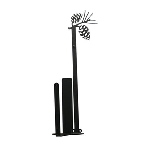 Village Wrought Iron Indoor Vertical Wall Mount Pinecone Paper Towel Holder