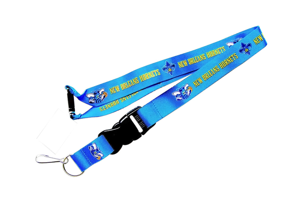 New Orleans Hornets Lanyard Keychain Id Holder Ticket - Blue
