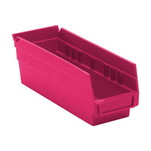 "Quantum Storage Systems QSB101PK 4"" Economy Shelf Bins, 11-5/8"" x 4-1/8"" x 4"", Pink (Case of  36)"
