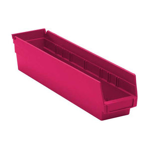 "Quantum Storage Systems QSB103PK 4"" Economy Shelf Bins, 17-7/8"" x 4-1/8"" x 4"", Pink (Case of  20)"