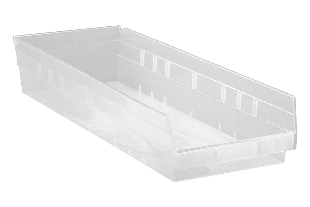 Quantum Clear View Durable High Density Economy Shelf Storage Bin 23 5/8