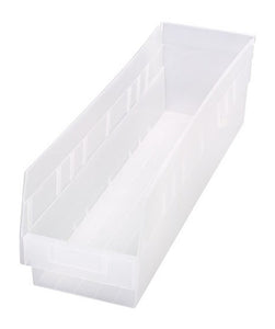 "Quantum Storage Systems Store More 6\'\' Shelf Bin 23-5/8"" X 6-5/8\"" X 6\"" - 8 Pack"