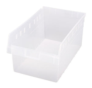 "Quantum QSB810CL Store-MAX Shelf Bin, 17-7/8"" Length x 11-1/8"" Width x 8"" Height, Clear, Pack of 8"