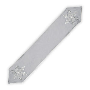 "National Tree Company 22"" Christmas Decorative Snowflake Table Runner"