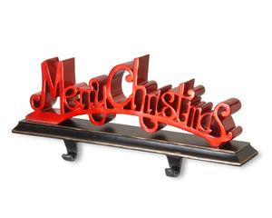 "National Tree 18 Inch Polyresin ""Merry Christmas"" Stocking Holder (RAC-E90277R)"
