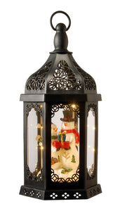 "National Tree 15"" Lighted Holiday Lantern, Black"