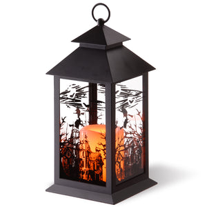 "12"" Halloween Lantern with Candle"