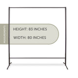 "Multi-Purpose Portable Rod Stand / Room Partitioner / Space Divider 74"" tall, 80"" wide"