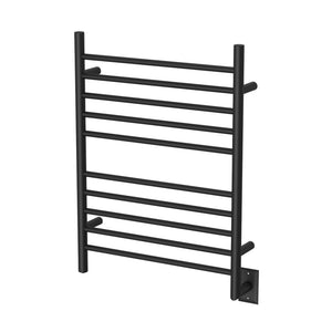 Radiant Hardwired Straight Heated Towel Warmer Rack - Matte Black