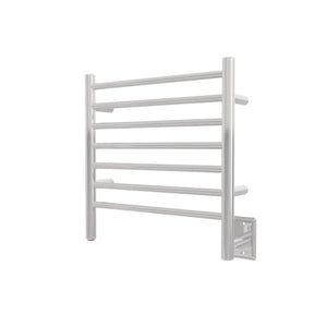 Amba Radiant Stainless Steel Wall-Mounted Small Hardwired Heated Towel Rack for Bathroom, Laundry Room and Wet Room - Straight Polished