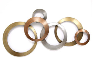 Stratton Home Decor Multi Metallic Rings Wall Decor