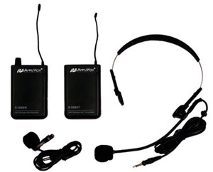 Amplivox S1601 UHF Wireless Headset/Lapel Microphone with 16-Channel Kit Receiver