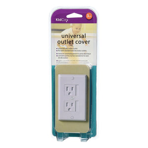Kidco Universal Outlet Cover, White - 1 Pack