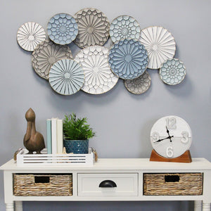 Stratton Home Decor Caroline Metal Plates Statement Wall Decor - Multi