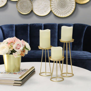 Stratton Home Decor Set of 3 Gold Metal Soho Candlestick