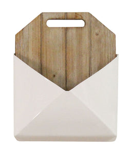 Stratton Home Decor Wood and Metal Wall Mailbox - White