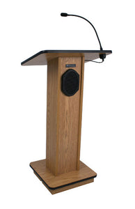 Amplivox Elite Solid Wood Veneer Lectern - Walnut
