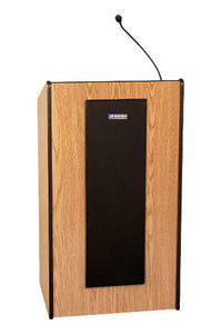 AmpliVox Adjustable Wireless Presidential Plus Lectern With Sound System Mahogany