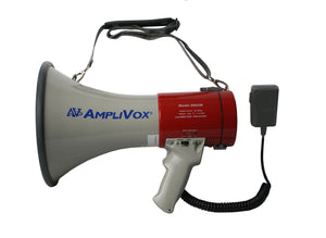 AmpliVox Mity Meg Plus Rechargeable 25 Watt Dynamic Megaphone with Microphone