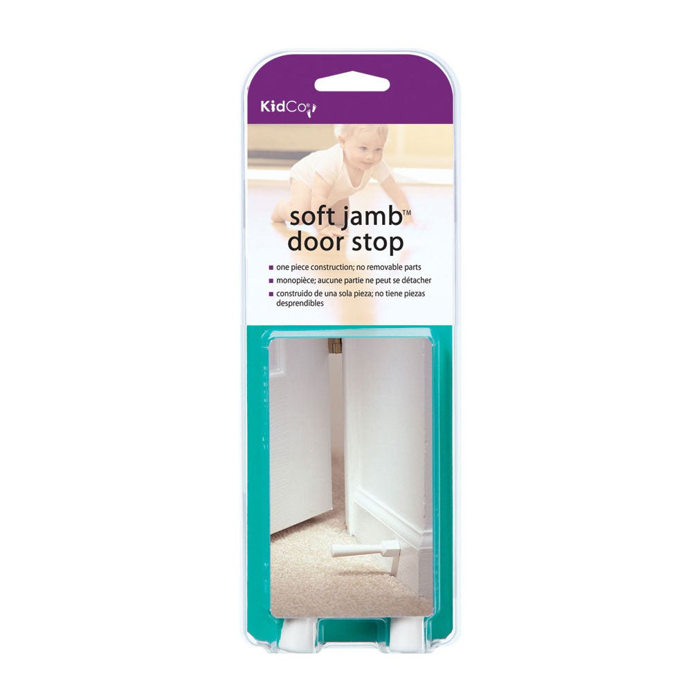 Kidco Soft Jamb Door Stop, White - 3 Pack