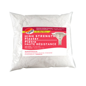 High Strength Plaster of Paris Premium Casting Compound 10 lb (4.5 kg) Bag - Super White