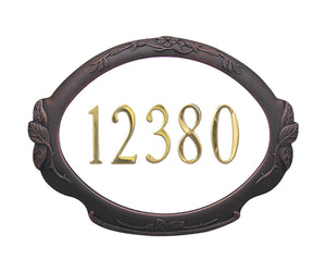 SAP-4110-CP Floral Address Plaque - Copper