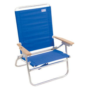 Rio Beach Easy In-Easy Out Beach Chair, Solid Blue