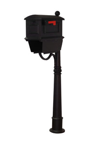 Special Lite Products Company Traditional Curbside Mailbox With Newspaper Tube And Ashland Mailbox Post