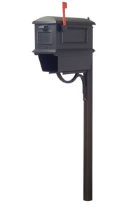 Special Lite Products Company Traditional Curbside Mailbox With Newspaper Tube And Richland Mailbox Post