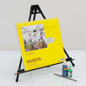 Light Weight Folding Tabletop Easel For Small Canvases In Black