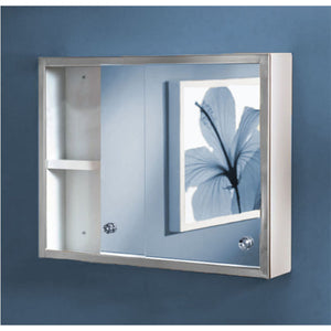 "SD-2420 - 24""x20""x4"" Sliding Door Series Surface Mounted Polished Edge Mirror Door Medicine Cabinet"