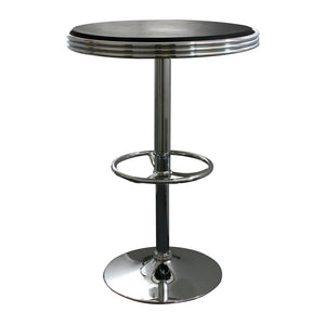AmeriHome Adjustable Height Soda Fountain Style Bar Table, Black
