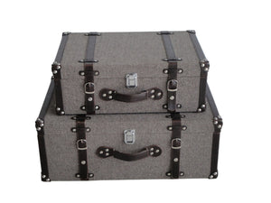 Mandalay Tweed Suitcases - Pack of 2