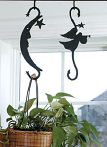 Village Wrought Iron Moon and Star Threaded Mounting  - S-Hook